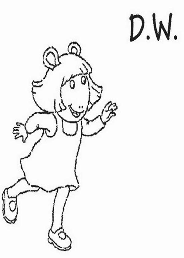 Arthur, : DW Read from Arthur Coloring Page