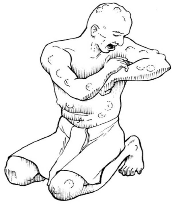 10 Plagues of Egypt, : Depiction of 10 Plagues of Egypt Coloring Page