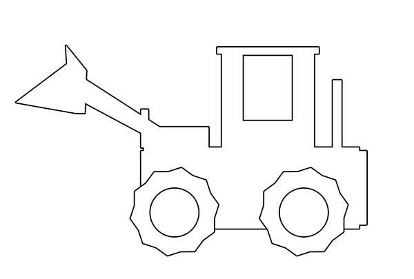Bulldozer, : Digger Bulldozer Outline Coloring Page