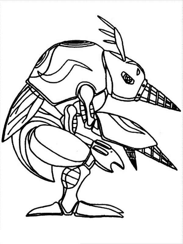 Digimon, : Digimon Digmon is Digivolution from Armadillomon Coloring Page