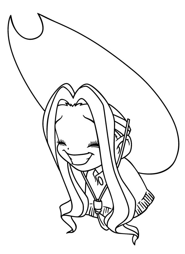 Digimon Master Mimi Tachikawa is Laughing Coloring Page ...