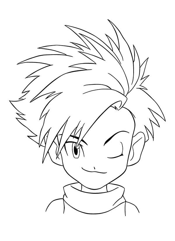 Digimon, : Digimon Master Taichi Kamiya Coloring Page