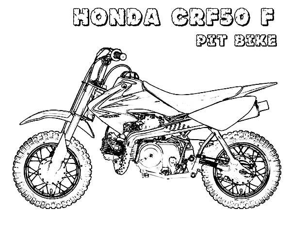 honda crf 150 drawing sketch coloring page