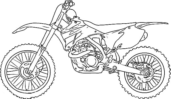 Dirt Bike, : Dirt Bike Picture Coloring Page