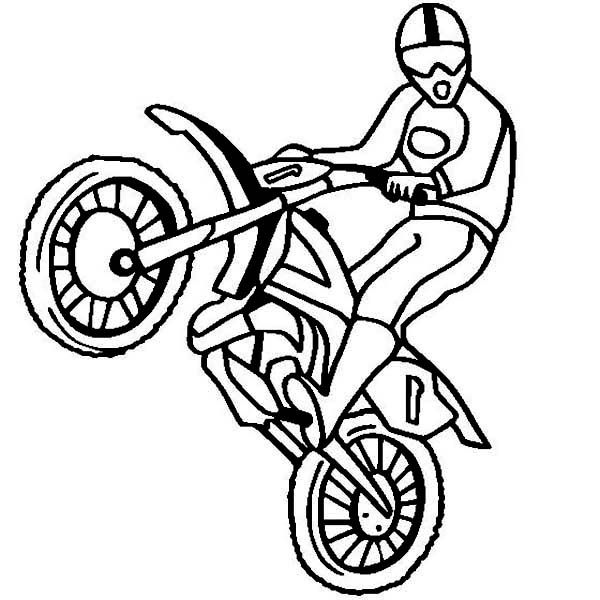 dirt bike rearing coloring page  dirt bike rearing