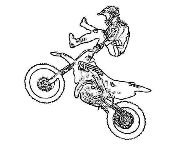 Dirt Bike, : Dirt Bike Showtime Coloring Page