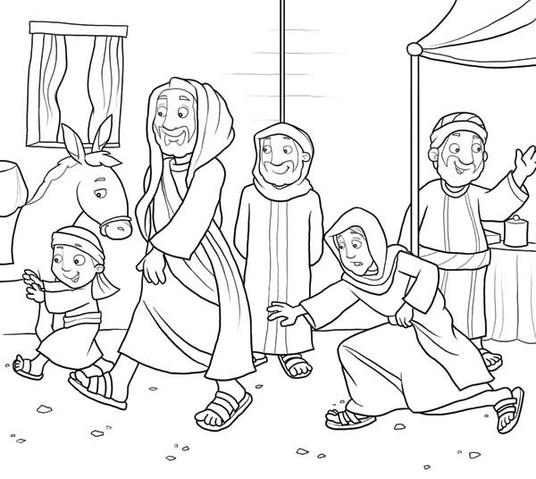 Disciples, : Disciples of Jesus Christ Coloring Page