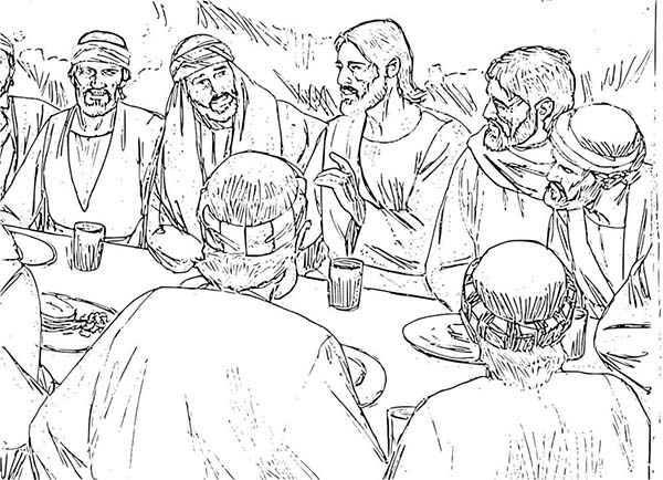 Disciples, : Disciples of Jesus Coloring Page