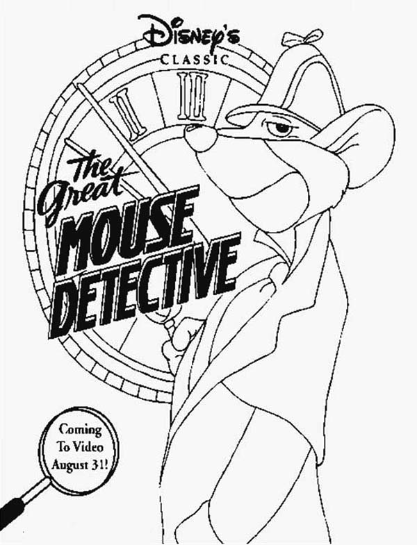 The Great Mouse Detective, : Disney The Great Mouse Detective Coloring Page