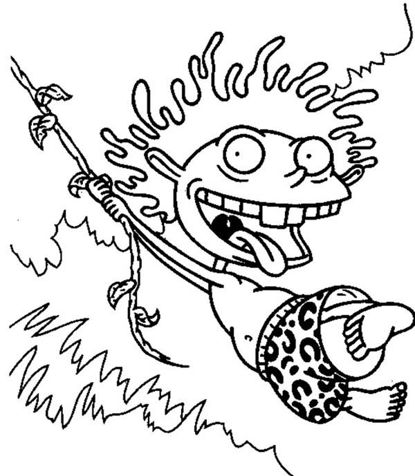 Thornberrys, : Donald Swing from One Tree to Another in the Thornberrys Coloring Page