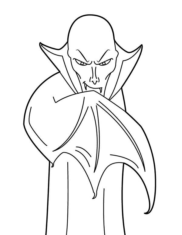 Vampire, : Drawing Bald Vampire Coloring Page