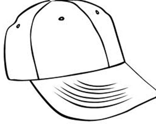 Baseball Cap, : Drawing Baseball Cap Coloring Page