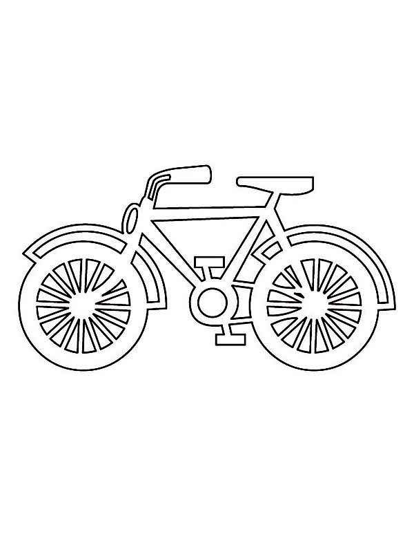 Bicycle, : Drawing Bicycle Coloring Page