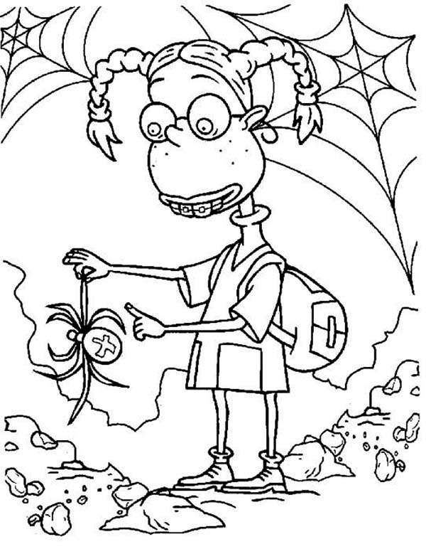 Thornberrys, : Eliza Thornberry Catch a Spider in the Thornberrys Coloring Page