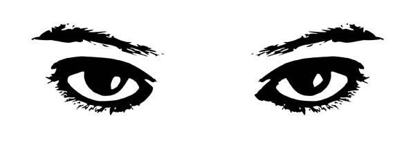 Eyes, : Eyes Watching Coloring Page