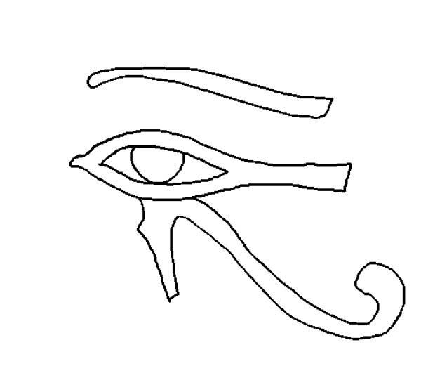 Eyes, : Eyes of Horus Coloring Page