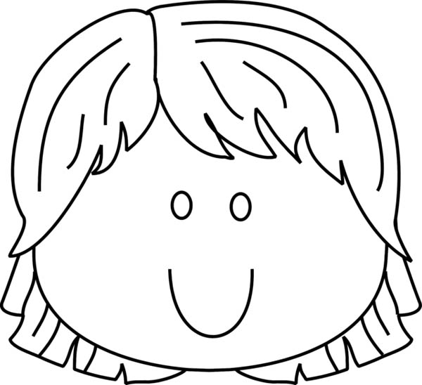 Face, : Face with so Much Happiness Coloring Page