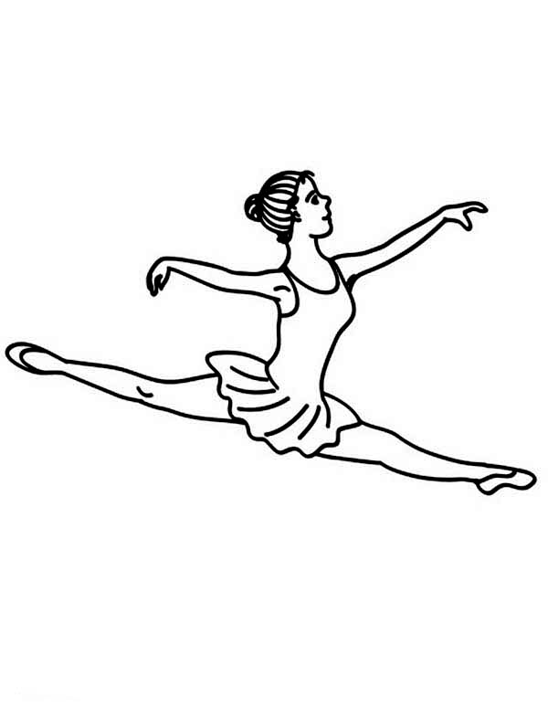 Dance, : Famous Ballet Dance Move Coloring Page