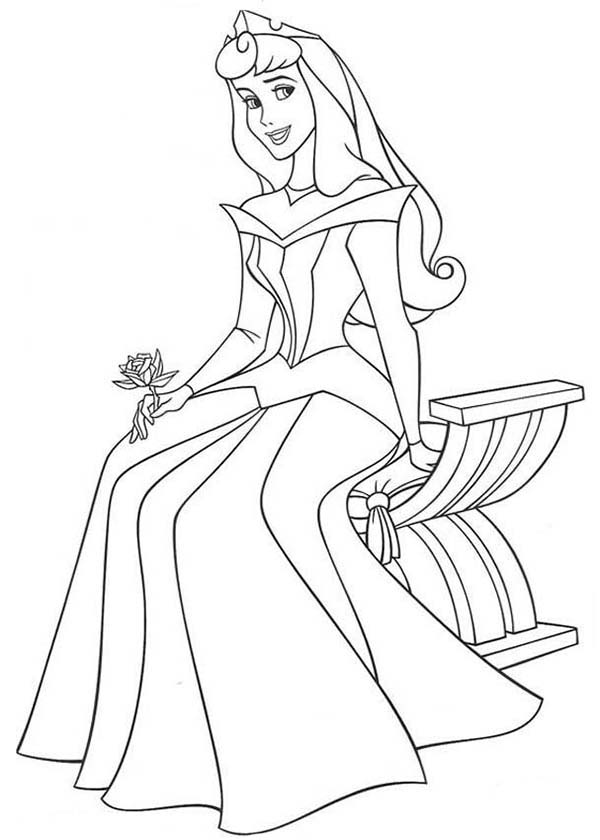 Beautiful Ladies, : Famous Characters Disney Sleeping Beauty Beautiful Ladies Coloring Page