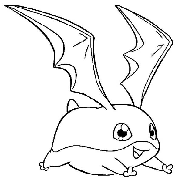Digimon, : Fantastic Digimon Patamon Coloring Page