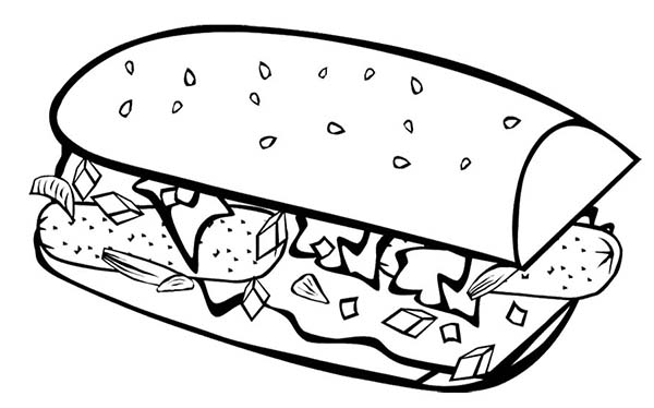 Breakfast, : Fast Food Breakfast Coloring Page