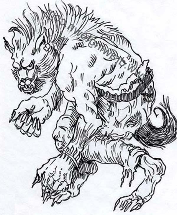 Ferocious Werewolf Coloring Page: Ferocious Werewolf ...