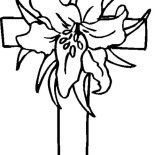 cross coloring pages with roses   Online Free Coloring Pages for Kids - Coloring Sun - Part 143