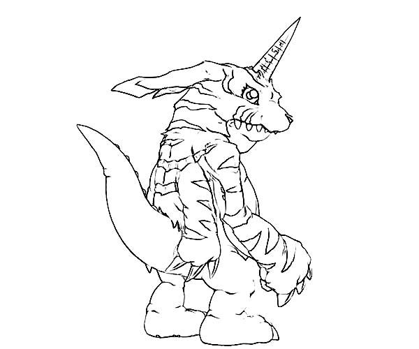 Digimon, : Gabumon Digimon Coloring Page