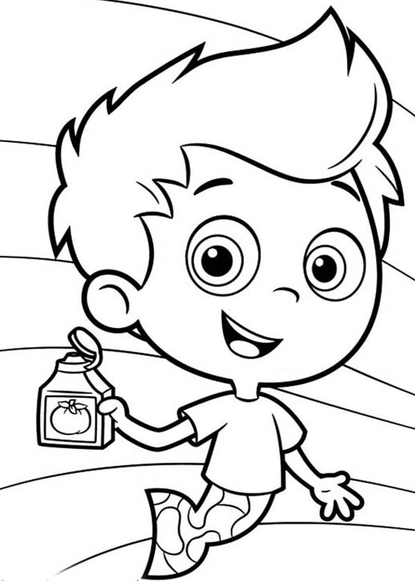 Bubble Guppies, : Gil Show His Shampoo in Bubble Guppies Coloring Page