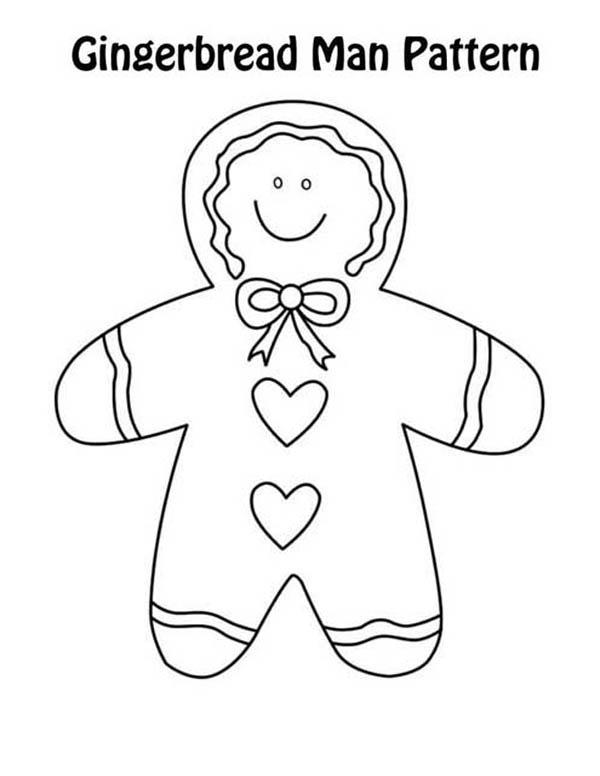 Gingerbread Men, : Gingerbread Men Pattern Coloring Page