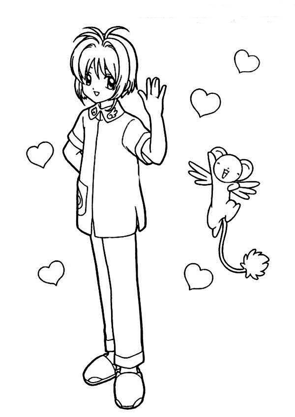 Cardcaptor Sakura, : Greet from Cardcaptor Sakura Characters Coloring Page