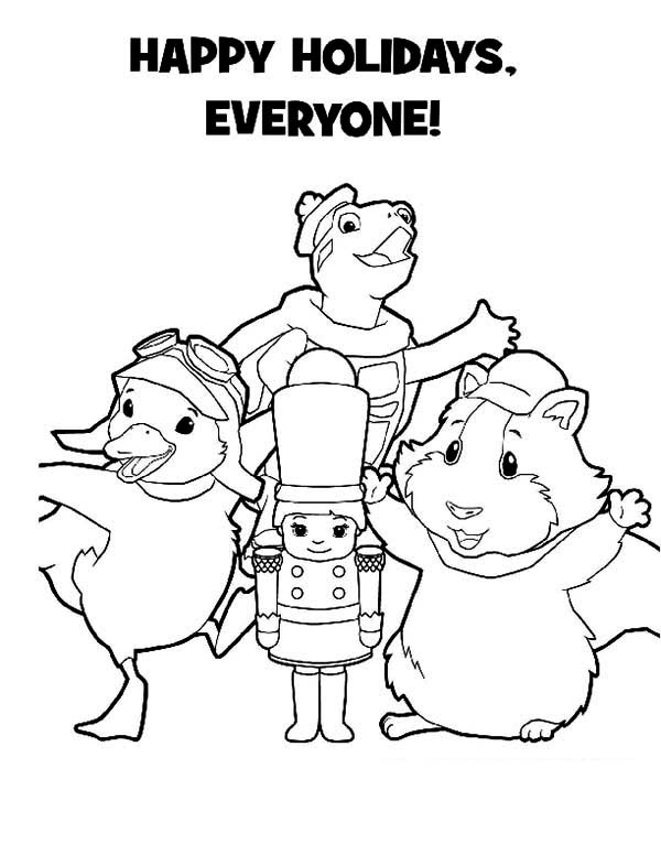 The Wonder Pets, : Happy Holidays from Wonder Pets Coloring Page
