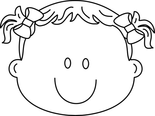 Face, : Happy Type of Face Coloring Page