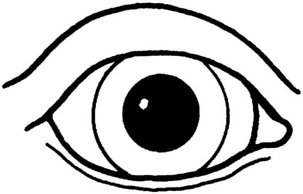 Eyes, : Healthy Eyes Coloring Page