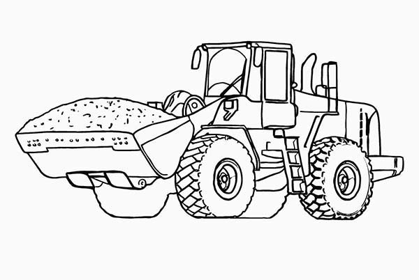 Construction, : Heavy Construction Equipment Wheel Loader Coloring Page