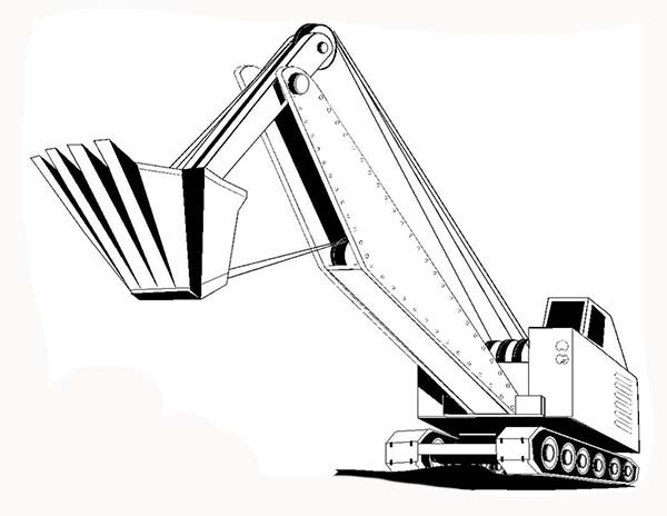Construction, : Heavy Equipment Construction Coloring Page