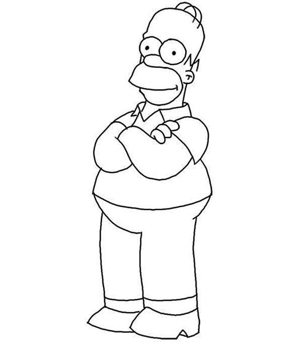 The Simpsons, : Homer Simpson from the Simpsons Coloring Page