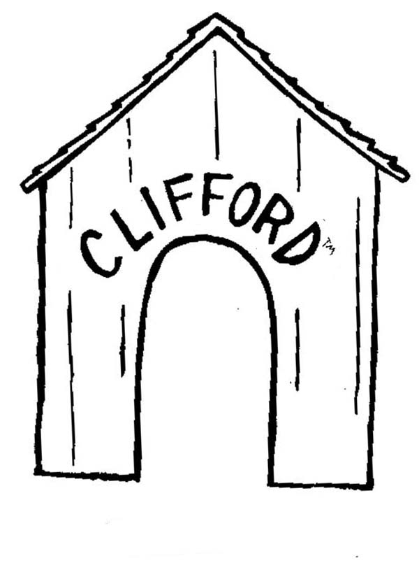 Clifford the Big Red Dog, : House of Clifford the Big Red Dog Coloring Page