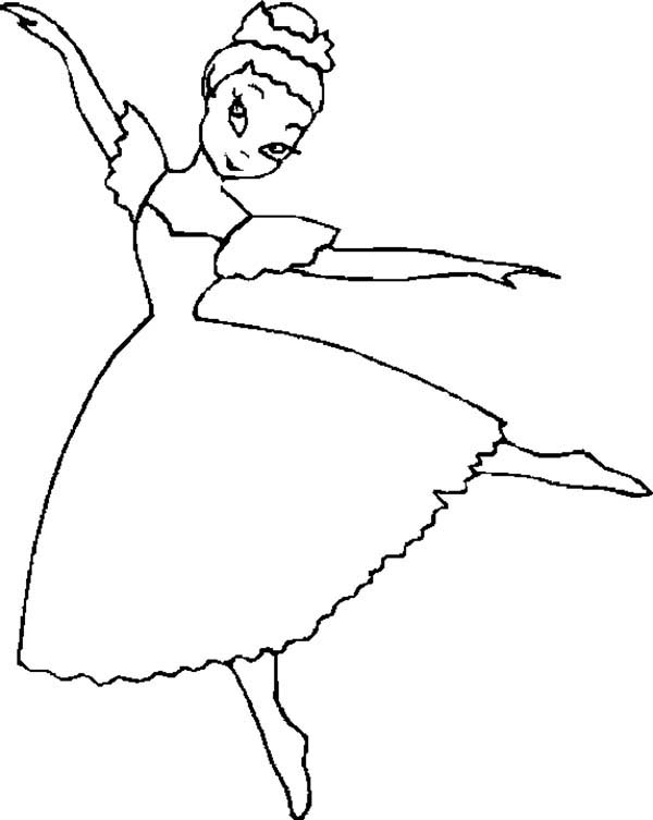 Dance, : How to Draw Ballet Dance Coloring Page