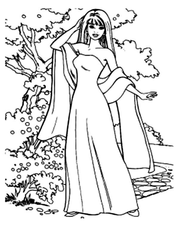 Barbie Doll, : How to Draw Barbie Doll Coloring Page