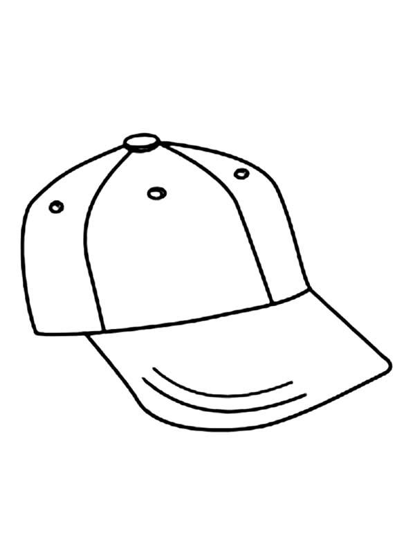 Baseball Cap, : How to Draw Baseball Cap Coloring Page