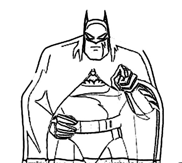 Batman, : How to Draw Batman Coloring Page