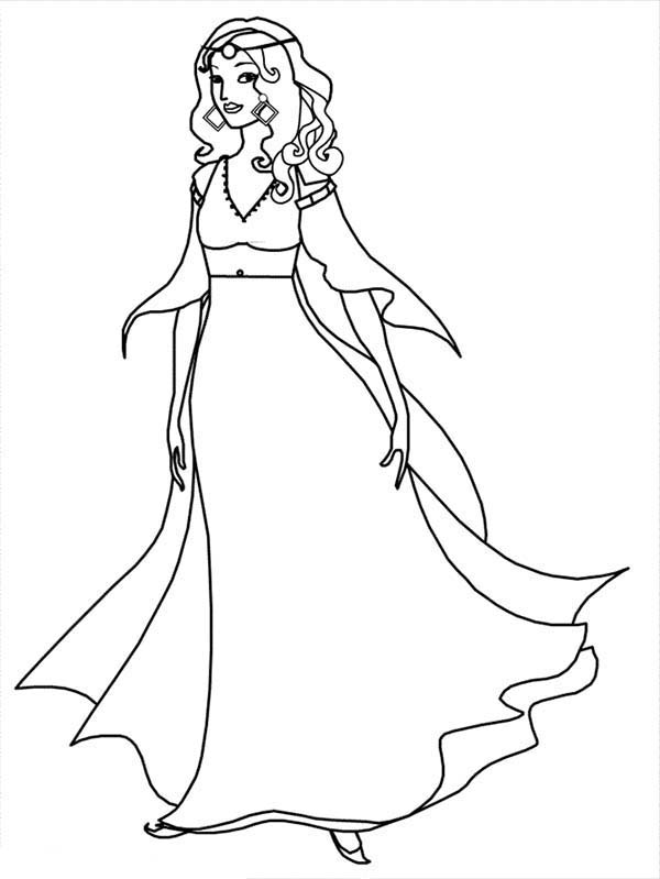 Beautiful Ladies, : How to Draw Beautiful Ladies Coloring Page