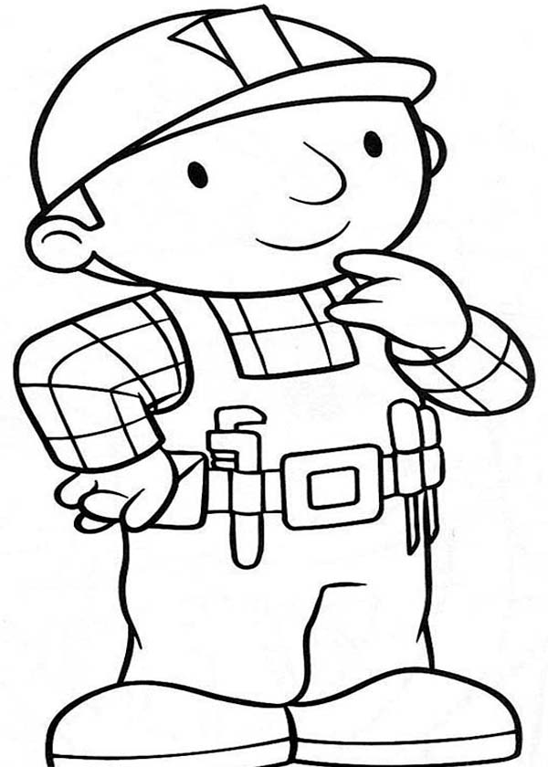 Bob the Builder, : How to Draw Bob the Builder Coloring Page