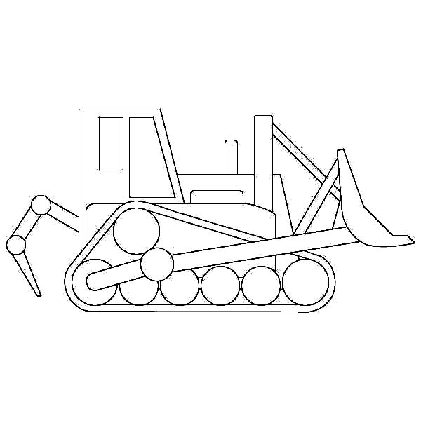 Bulldozer, : How to Draw Bulldozer Coloring Page