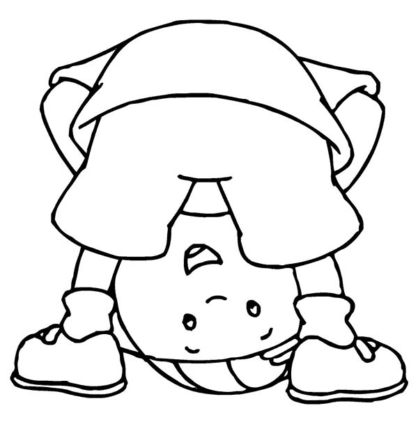 Caillou, : How to Draw Caillou Coloring Page