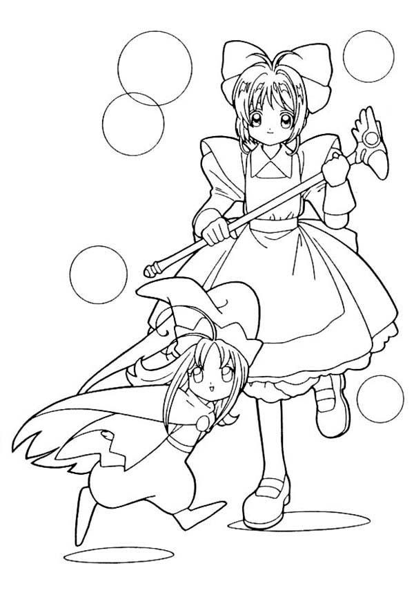Cardcaptor Sakura, : How to Draw Cardcaptor Sakura Coloring Page