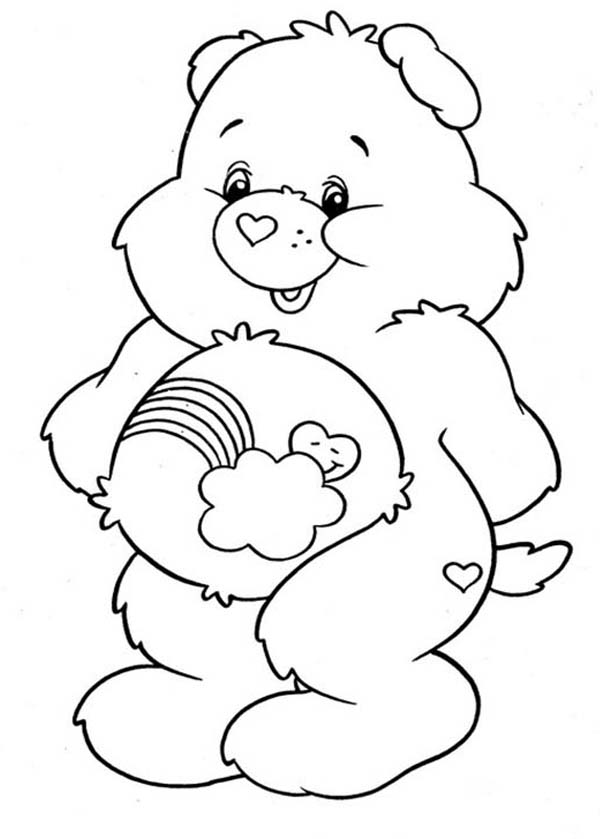 Care Bear, : How to Draw Care Bear Coloring Page