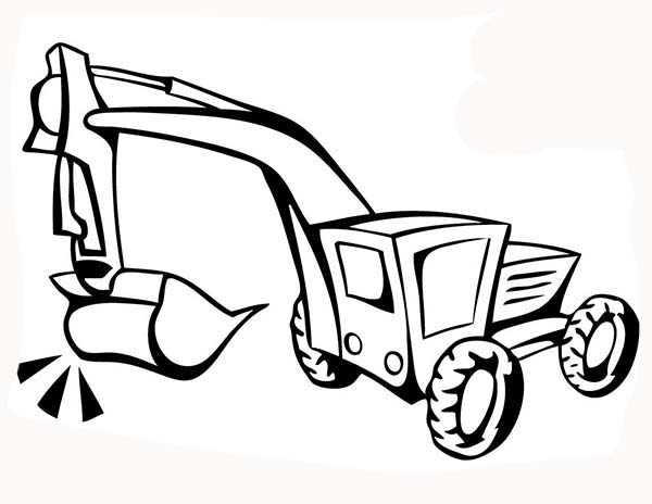 Construction, : How to Draw Construction Equipment Coloring Page