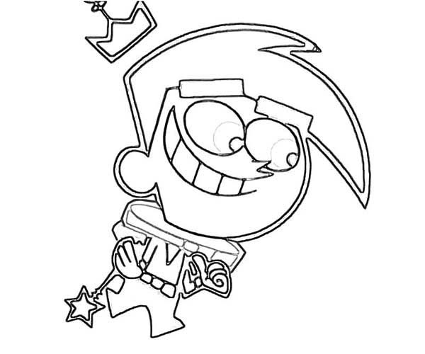 The Fairly Odd Parents, : How to Draw Cosmo in the Fairly Odd Parents Coloring Page